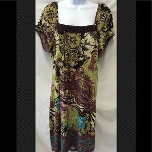 ECI NEW YORK Polyester Tuck Summer Dress Size L